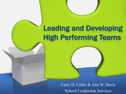 GLF-High Performing Teams