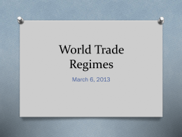 World Trade Regimes
