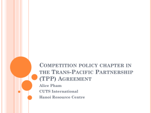 Competition policy chapter in the Trans-Pacific
