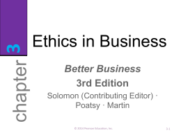 Business Ethics & Social Resp.