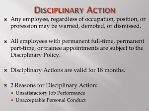 1 Disciplinary Action - North Carolina Department of Public Safety