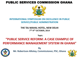Presentation - Department of Administrative Reforms and Public