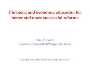 The importance of financial and economic literacy