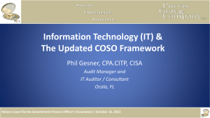 Information Technology & the Updated COSO Framework
