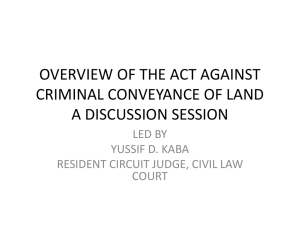 overview of the act against criminal conveyance of land