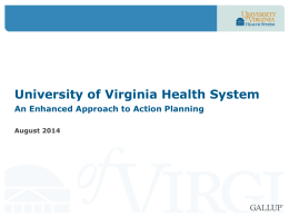 Potential action steps - University of Virginia