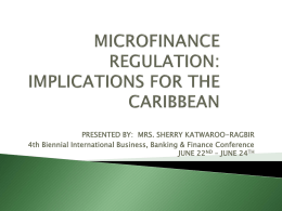microfinance regulation: implications for the