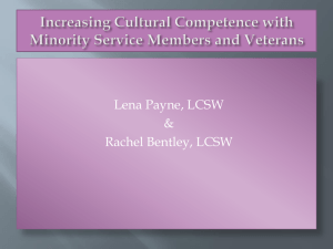Increasing Cultural Competence with Minority Service Members and