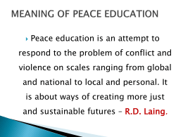 13. presentation on peace