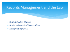 Records Management and the Law