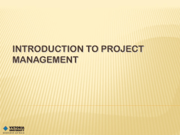 Project management - Using the Staff Site