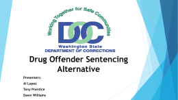 Drug Offender Sentencing Alternative (DOSA)