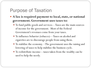 Chapter 5–Purpose of Taxation