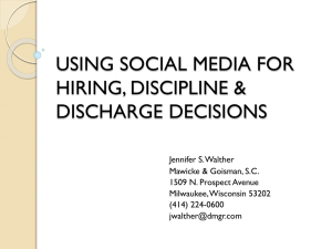 hiring, discipline & discharge decisions in the workplace