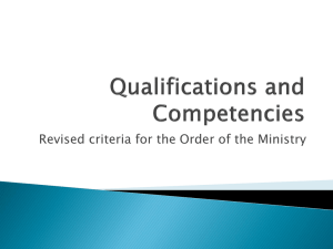 Qualifications and Competencies