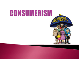 What is Consumer Awareness - LAF 2113 : Law and Society