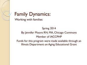 Family Dynamics: Working with Families
