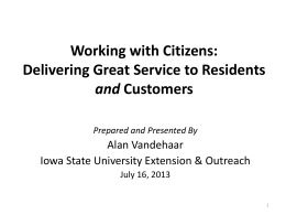 Course Presentation - Iowa State University Extension and Outreach