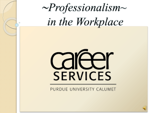 Professionalism – a definition