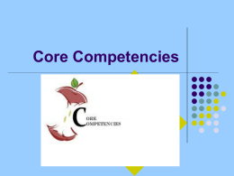 Core Competencies Vermont