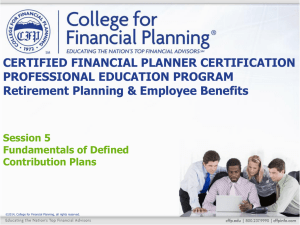 Profit Sharing & Pension Plans Qualified Plans Profit Sharing Plans