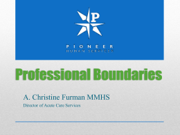 Professional Boundary