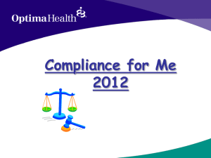 Compliance - Optima Health