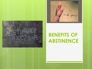 Benefits of Abstinence Powerpoint
