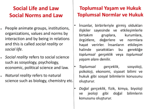 Social Life and Law Social Norms and Law