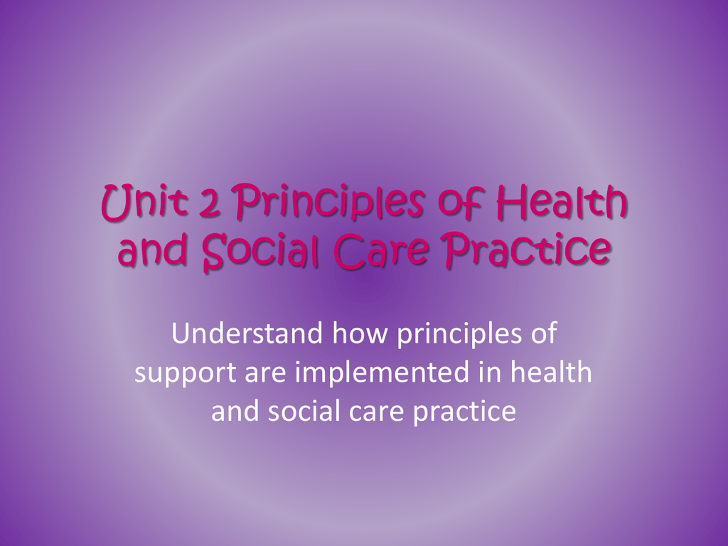 examples of health and social care assignments