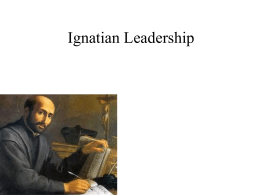 Ignatian style Leadership student 2012 final
