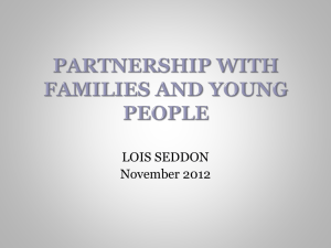 Partnership with Families and Young People