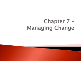 Managing Change Presentation - Kyle Shulfer