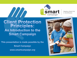 An Introduction to the Smart Campaign