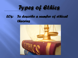 Types of Ethics