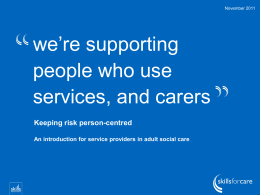 Keeping risk person centred - presentation