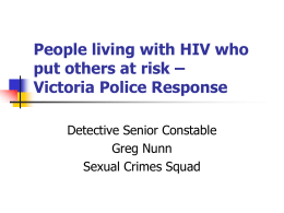 People living with HIV who put others at risk – Victoria Police
