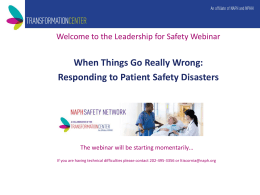 When Things Go Really Wrong: Responding to Patient Safety
