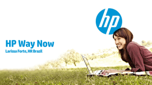 HP Way Now in Brazil