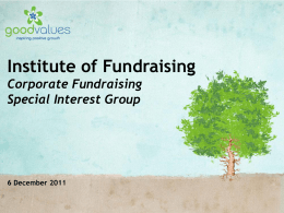 Fundraising Consultancy & CSR Experts