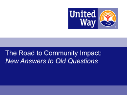 The Road to Community Impact