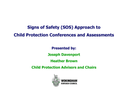 Signs of Safety Presentation - Wokingham Children`s Services