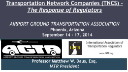 Matt Daus Presentation - Airport Ground Transportation