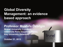 Global Diversity Management: an evidence based approach