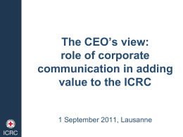 role of corporate communication in adding value to the