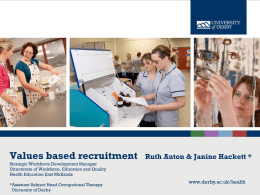 3 Value Based Recruitment – Janine Hackett