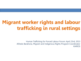 Migrant worker rights and rural labour settings
