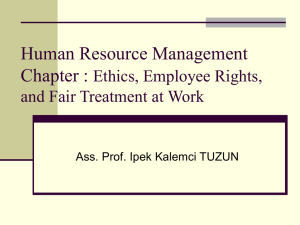 Human Resource Management Chapter : Ethics, Employee Rights