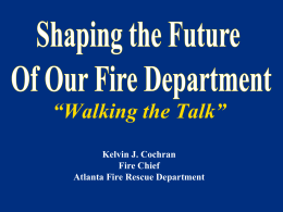 Chief Cochran Shaping the Future 03.17.2011