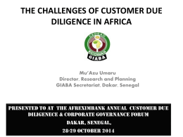 The Challenges of CDD in Africa – Mr Mu`Azu U
